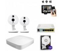 Комплект IP видеонаблюдения 2FullHD Wi-Fi C2