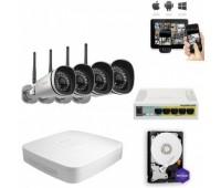 Комплект IP видеонаблюдения 4FullHD Wi-Fi 9900