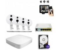 Комплект IP видеонаблюдения 4FullHD Wi-Fi C2