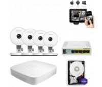 Комплект IP видеонаблюдения 4HD Wi-Fi C1 Lite