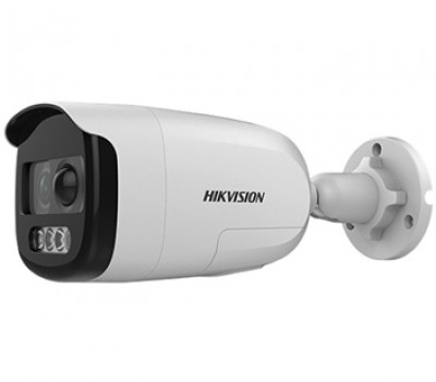 DS-2CE12DFT-PIRXOF (3.6 мм) 2Мп ColorVu Turbo HD видеокамера Hikvision с PIR датчиком и сиреной
