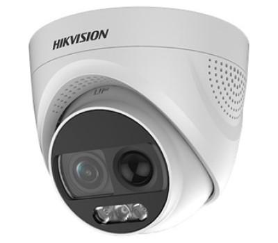 DS-2CE72DFT-PIRXOF (2.8 мм) 2Мп ColorVu Turbo HD видеокамера Hikvision с PIR датчиком и сиреной